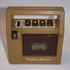 Vintage Fisher Price Toy Cassette Tape Player Reco